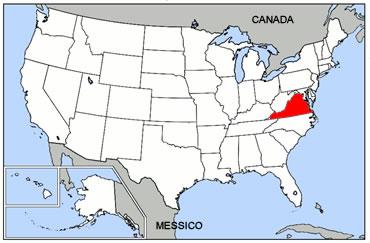 Virginia okpedia for Piani domestici della carolina costiera
